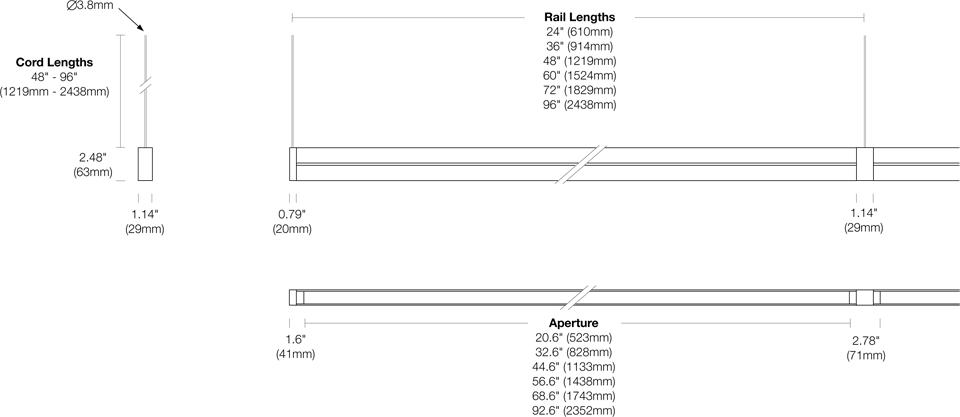 Options 107-DB-CC Dimensions