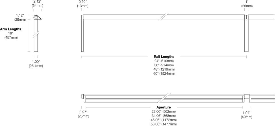 Options 107-WG-TA Dimensions