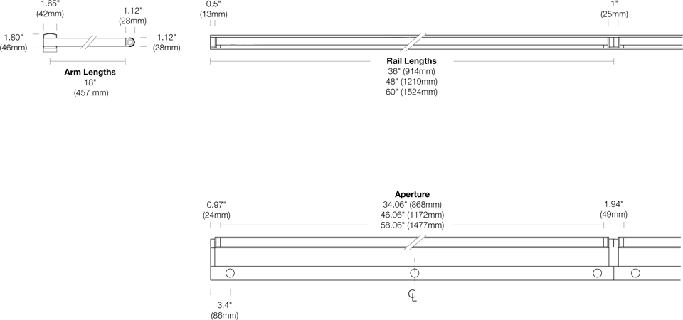 Options 117-RR-ST Dimensions