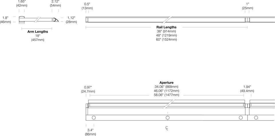 Options 117-WG-ST Dimensions