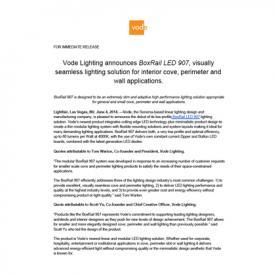 BoxRail LED 907 Vode Press Release 6-2014